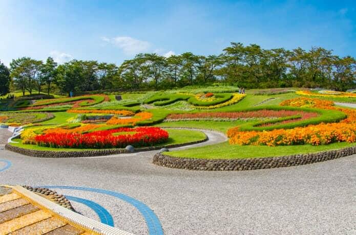 みちのく公園の花広場