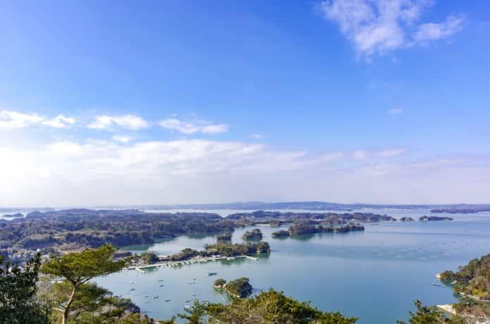 大高森からのぞむ奥松島