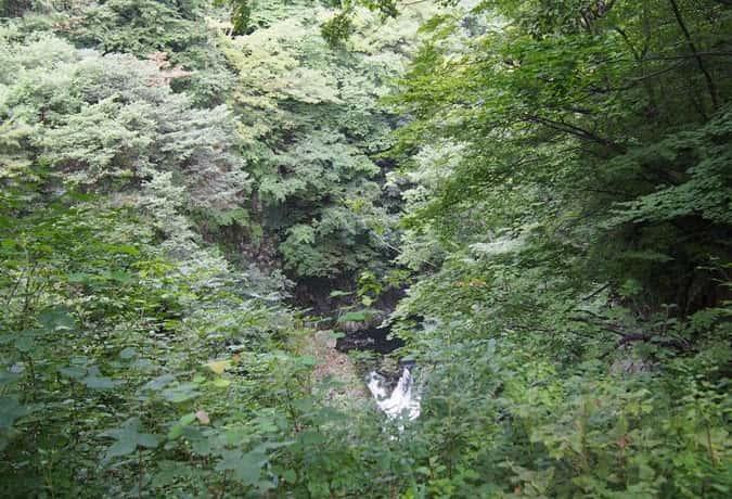 鳳鳴四十八滝 撮影スポットからみた滝