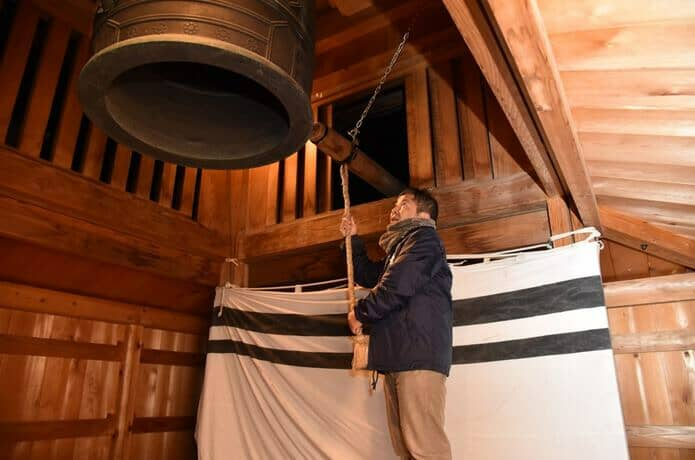 白石城 除夜の鐘