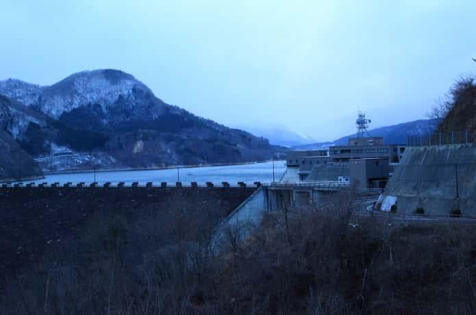 冬の七ヶ宿ダム