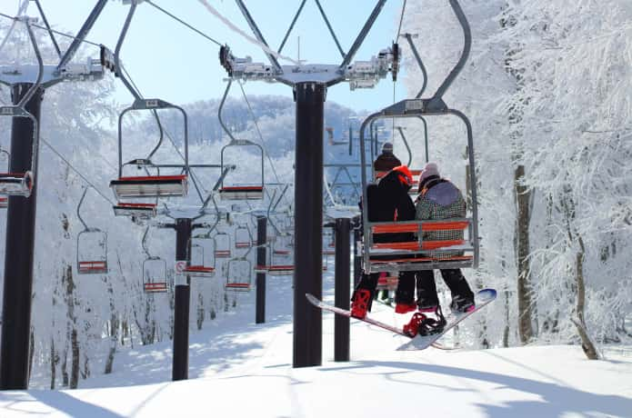 宮城蔵王 スキー場リフト