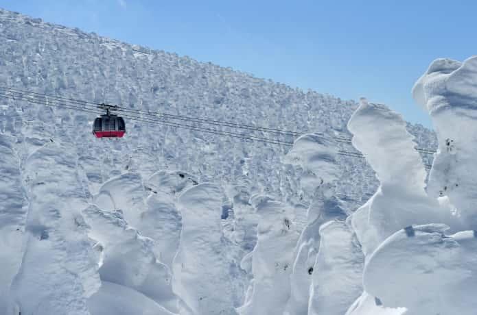 蔵王 樹氷ロープウェイ