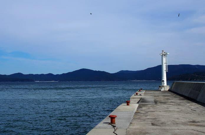 田代島 大泊港と海