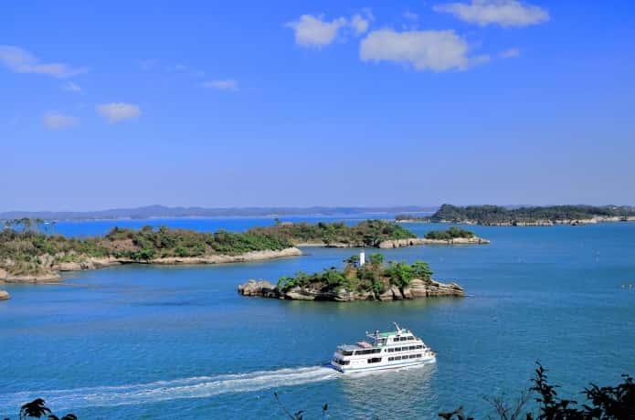 多聞山からみる松島の景色