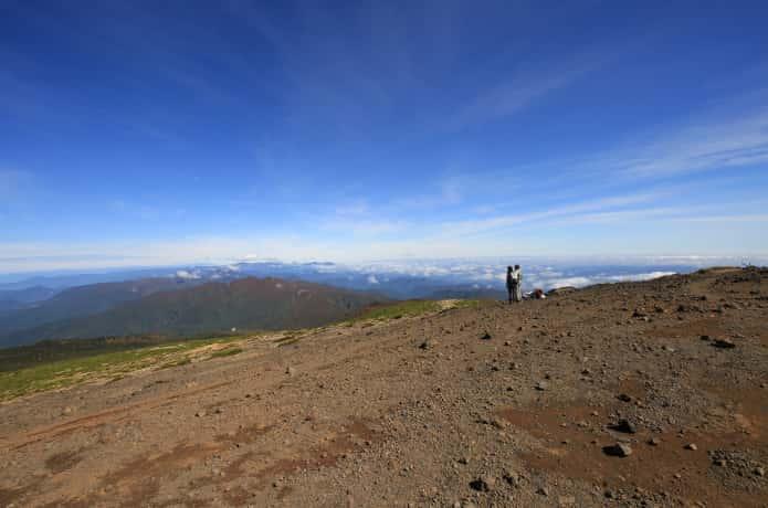 熊野岳山頂からの景色