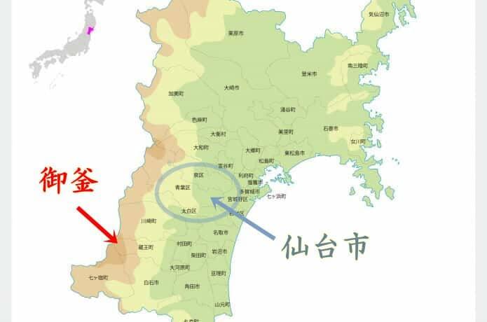 宮城県 地図