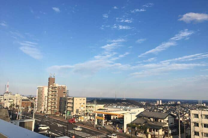 八木山てっぺん広場からの景色