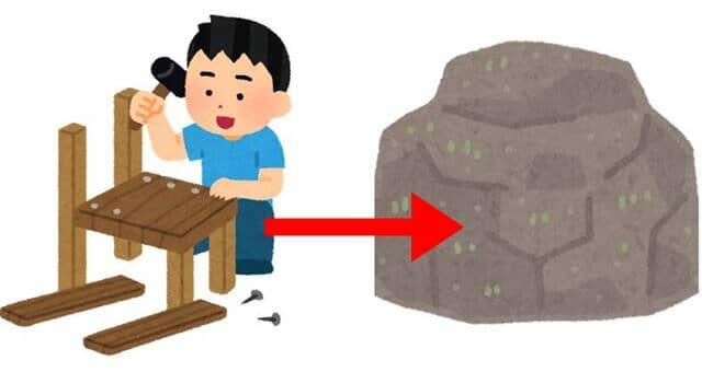 木材でなにかをつくる人-tile