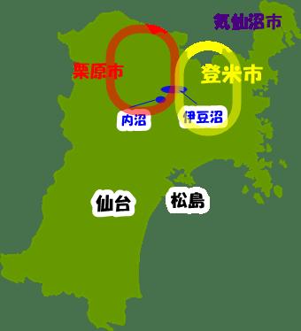宮城県地図 いらすとすとっく