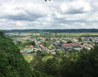 岩出山城の景色