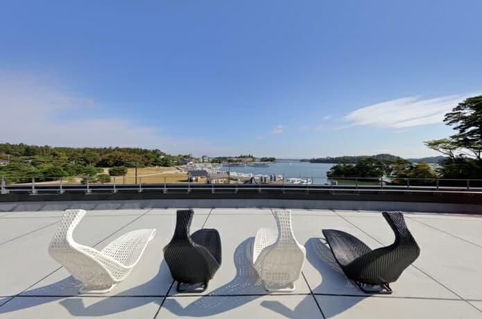 松島離宮 屋上からの景色