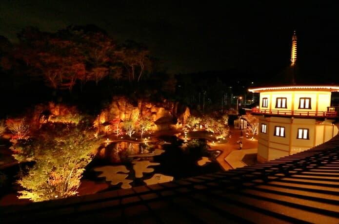 松島離宮 夜の庭園