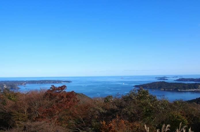 大六天展望台から望む海