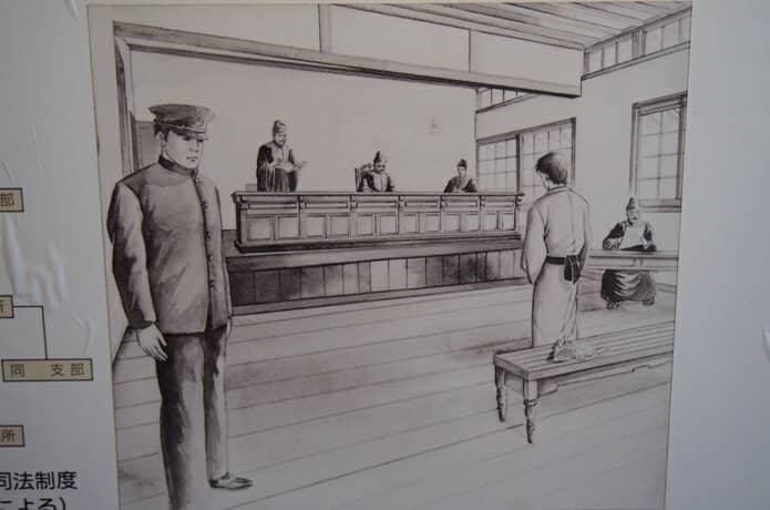 明治時代の裁判風景