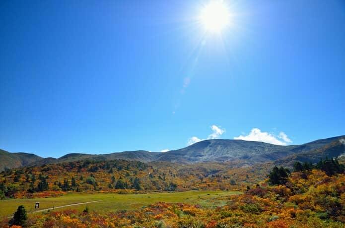 栗駒山と湿地帯