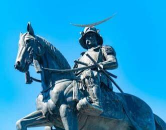 伊達政宗 騎馬像