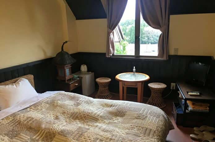 松島プチホテルビストロアバロン クイーンベッド