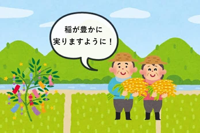 七夕と稲作
