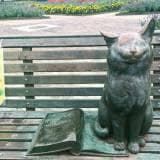 七北田公園 猫の像